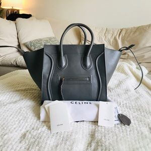 Celine luggage Phantom Bag Charcoal Smooth Leather